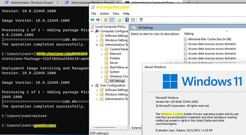 install gpedit.msc on windows 10 and 11 home editions