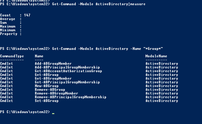 Module ActiveDirectory to manage AD group in powershell