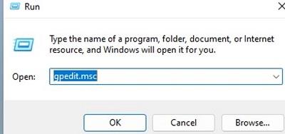 open local gpo editor gpedit.msc on windows
