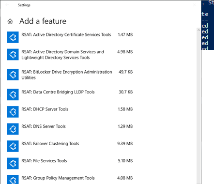 Install RSAT Feature on Demand on Windows 10 1809 Using