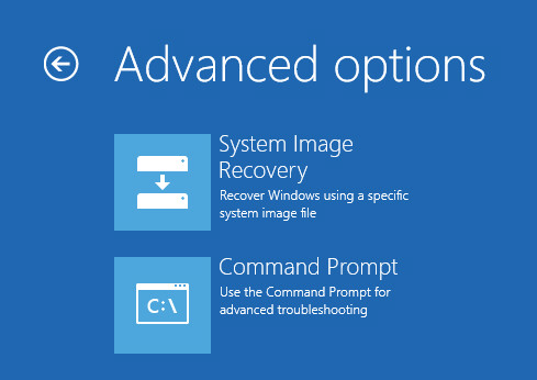 run command prompt in the recovery environment