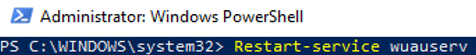 Restart-service wuauserv (powershell)