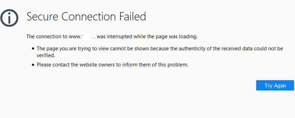 Secure Connection Failed in firefox 62.0, 63.0