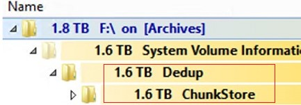 large dedup chunk store in system volume information folder cleanup. How to cleanup Dedup chunk store with Garbage Collection