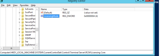 rds licensing mode - LicensingMode registry parameter