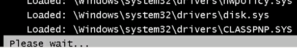 Windows boot stops on CLASSPNP.SYS loading