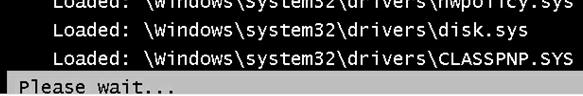 Windows boot stops on CLASSPNP.SYS loading