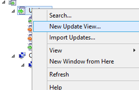 new update view in wsus console