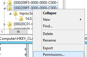 registry key permissions