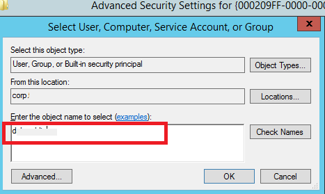 select username to set owner on reg key