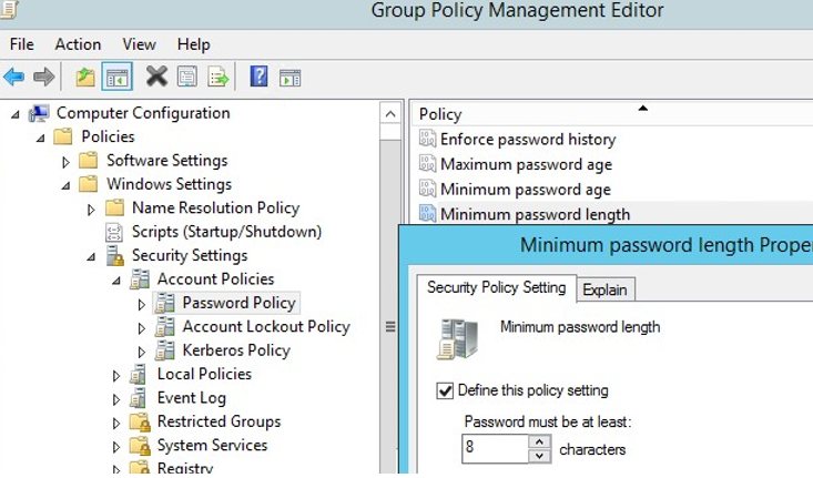 Managing Domain Password Policy in the Active Directory | Windows OS Hub