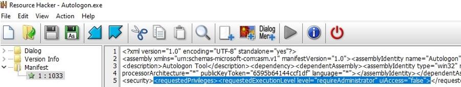 edit manifest of the exe file add asInvoker option