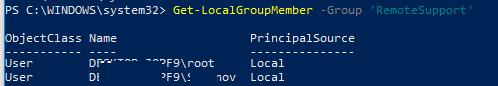 Get-LocalGroupMember