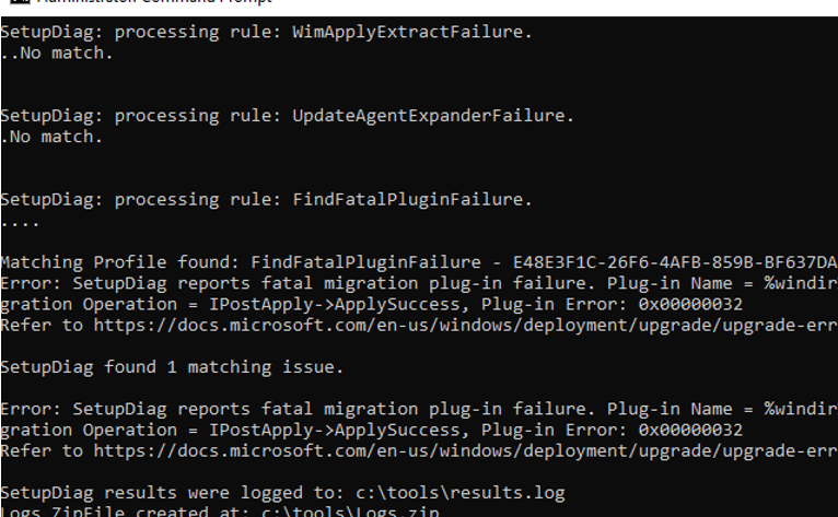 Using SetupDiag exe to Diagnose Windows 10 Upgrade Errors | Windows