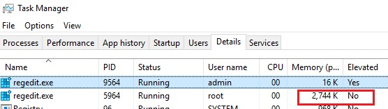 task manager not elevated app