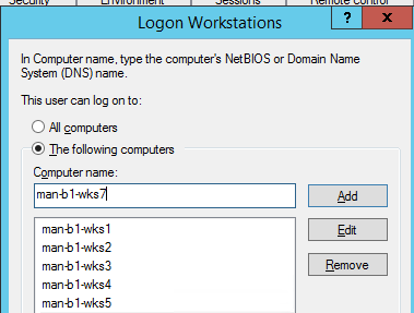 active directory logon workstations restriction