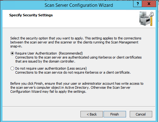 Configuring Distributed Scan Server on Windows Server 2012