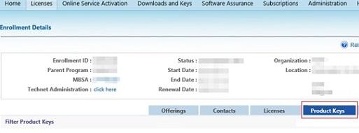 get kms host key for windows server 2022 from microsoft licensing portal