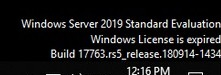 windows server 2019 evaluation license is expired desktop message