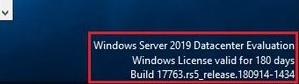 windows server 2019 standard evaluation license valid for 180 days