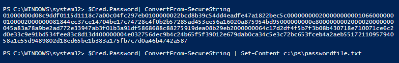 ConvertFrom-SecureString