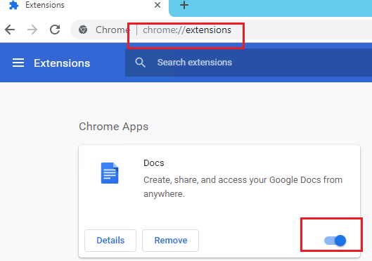 disable chrome extensions