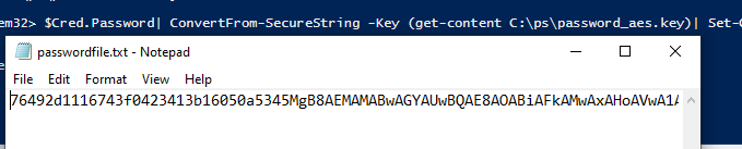 encrypt a password with the 256-bit AES key