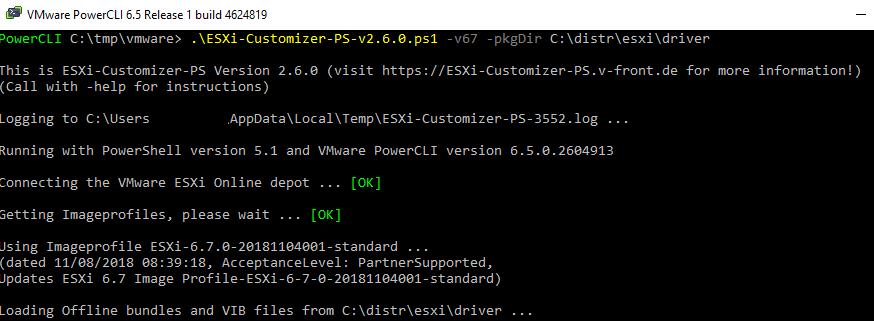 ESXi-Customizer-PS add vib drivers to the esxi image