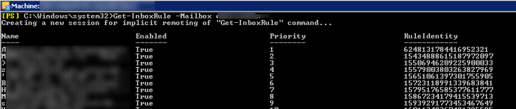 managing outlook mailbox rules via powershell