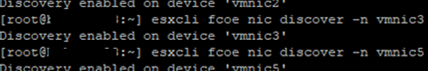 esxcli fcoe nic discover - initiate FCOE adapter discover