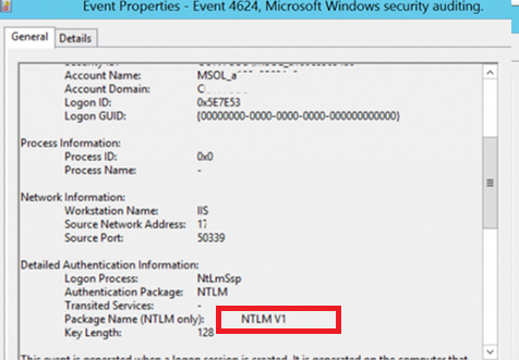 eventid 4624 source Microsoft-Windows-Security-Auditing ntlm usage