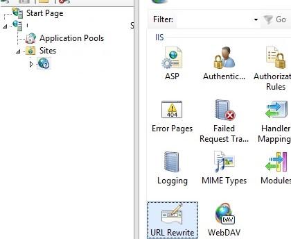 iis URL Rewrite module