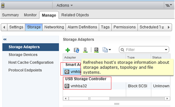 VMware ESxi Missing QLogic HBA Adapters