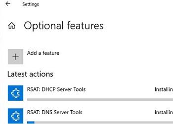 win10: installing rsat features online