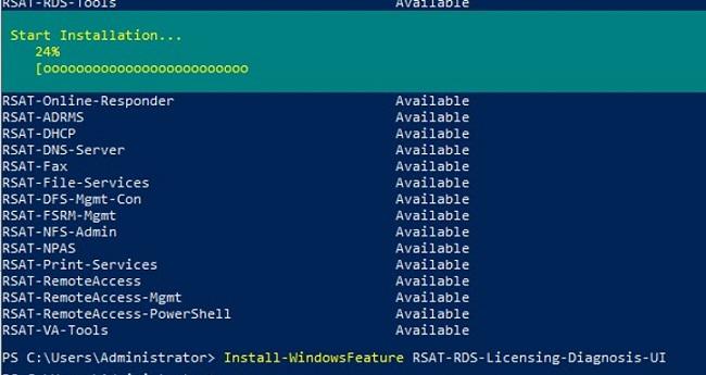 windows server 2022 and 2019: Install-WindowsFeature RSAT