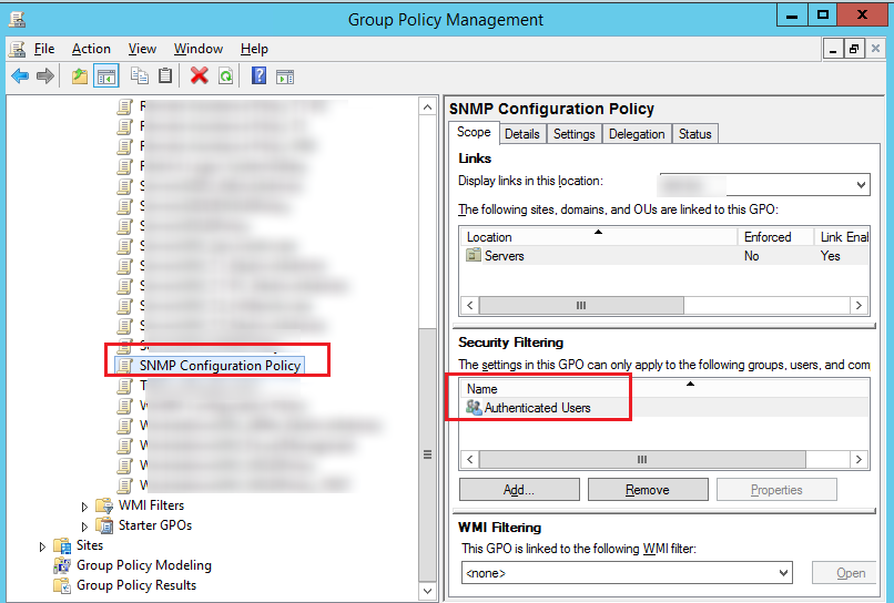 GPO Security Filtering - authenticated users by default