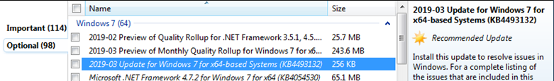 KB4493132 - update with end of support notification wor windows 7