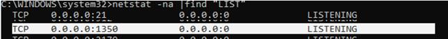 nestat find new rdp port number