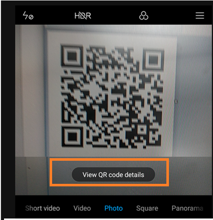 read qr code for wifi network from mobile device