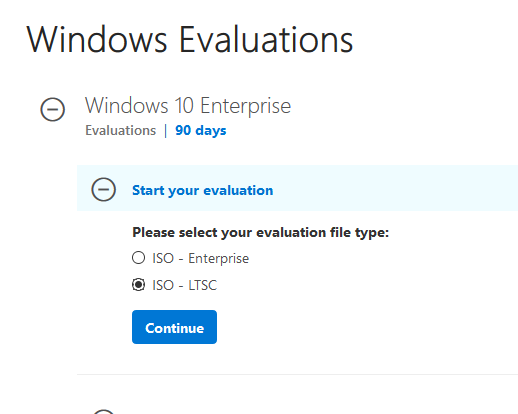 download Windows 10 Enterprise LTSC 2019 Evaluatuin ISO image