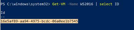 get-vm id - hyper-v