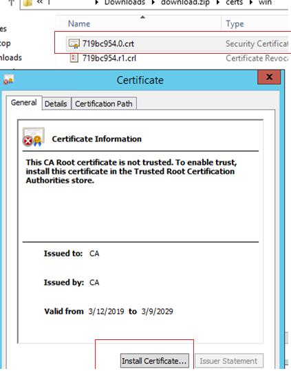 install self-signed cert for VMWare vcenter