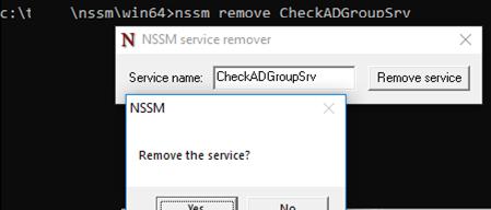 nssm remove powershell service