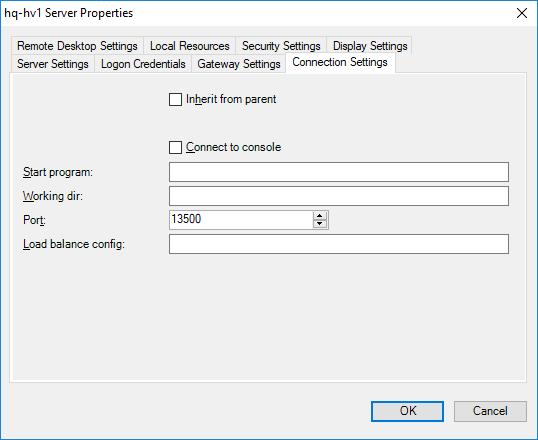 rdcman - change RDP connection port