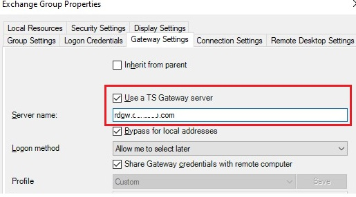 rdpman connecting via remote desktop gateway