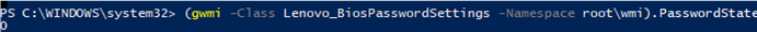 powershell Lenovo_BiosPasswordSettings