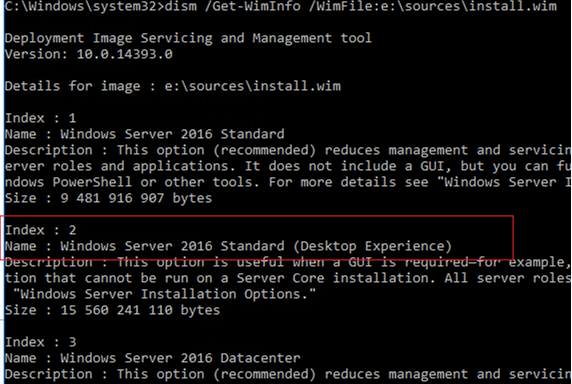 dism /Get-WimInfo from install.wim
