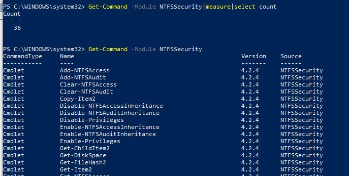 NTFSSecurity powershell module