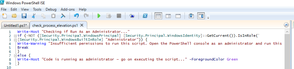 PowerShell script to Check for Elevated Admin Rights