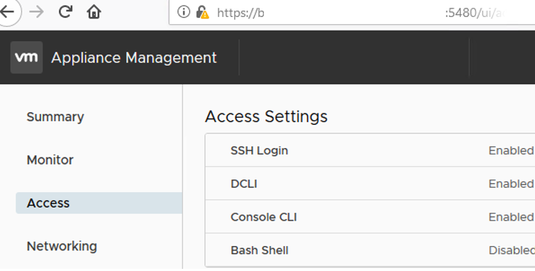 vmware vcenre appliance - enable ssh access